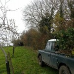 My trusty Land Rover earning its keep.