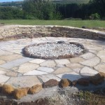 Garden Construction Purbeck stone firepit