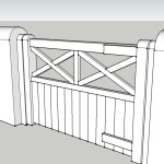 Pedestrian gate to front door
