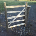 Cleft chestnut rustic garden gate